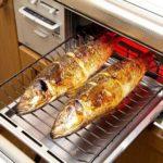 ガスコンロの魚焼きグリル