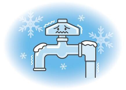 冬の配管凍結