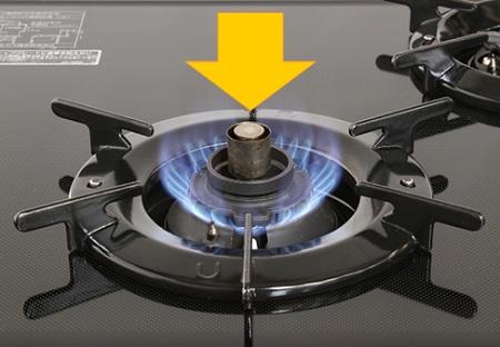 ガスコンロの温度センサーの働き