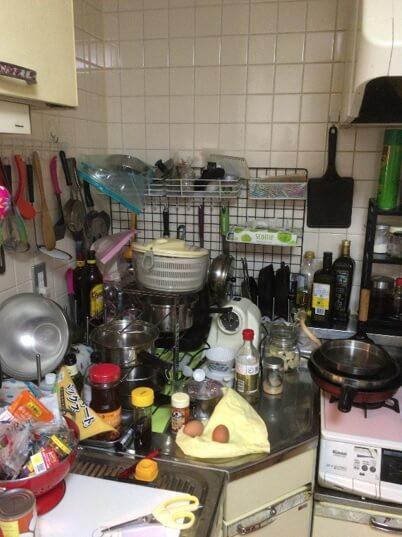 L型キッチン(リフォーム前)