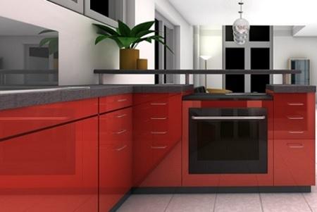 赤色|キッチン カラー